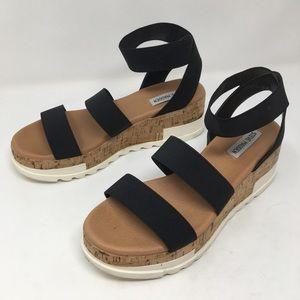 Steve Madden Bandi Platform Sandals 10 Black